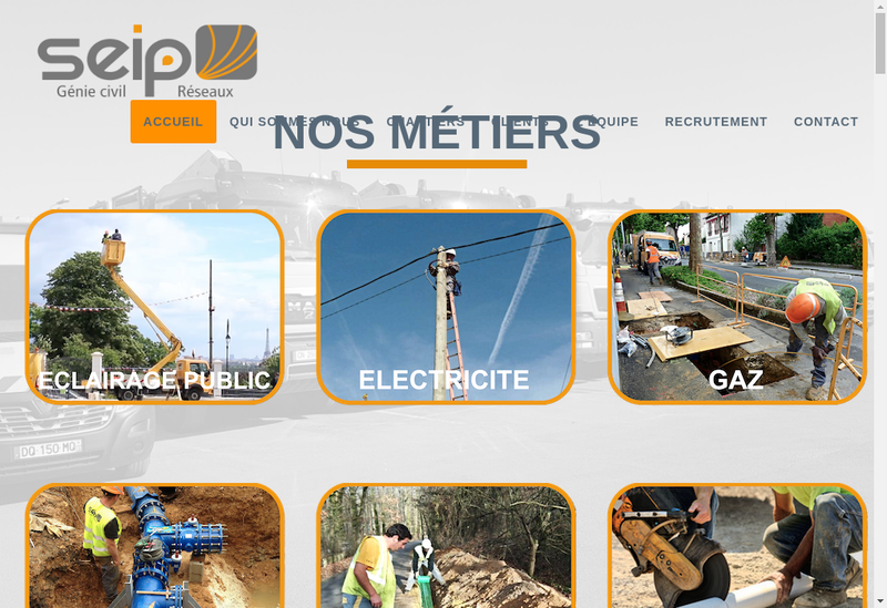 Capture d'écran du site de Seip Ile de France