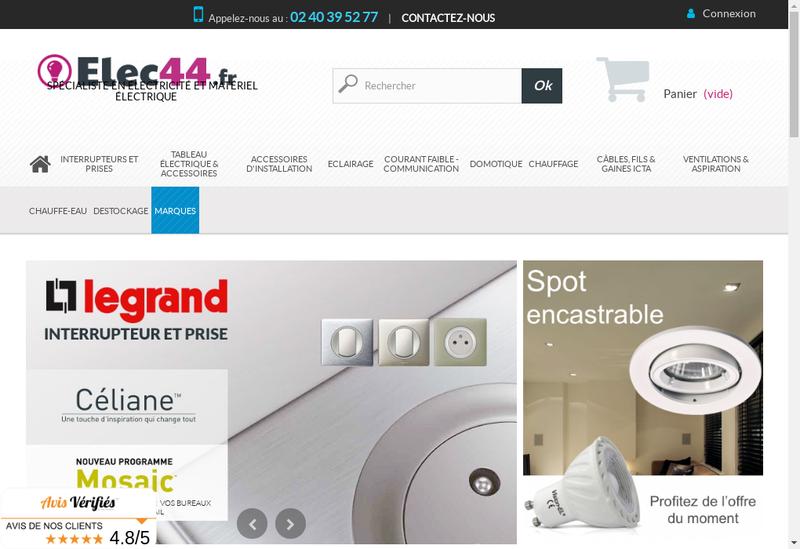 Capture d'écran du site de Elec 44