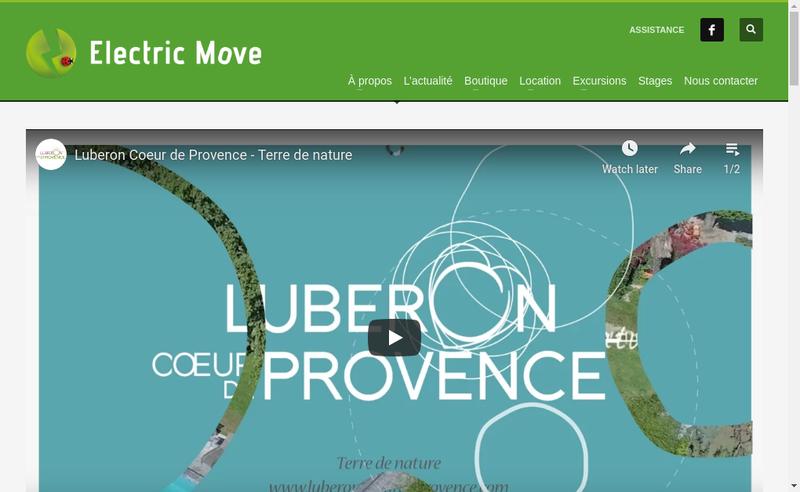 Capture d'écran du site de Electric Move