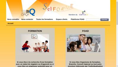 Capture d'écran du site de Selforme