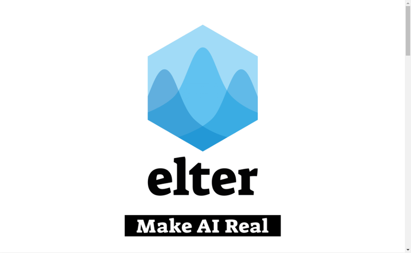 Capture d'écran du site de Elter