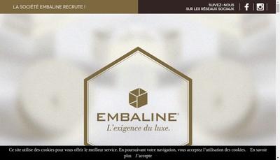 Site internet de Embaline