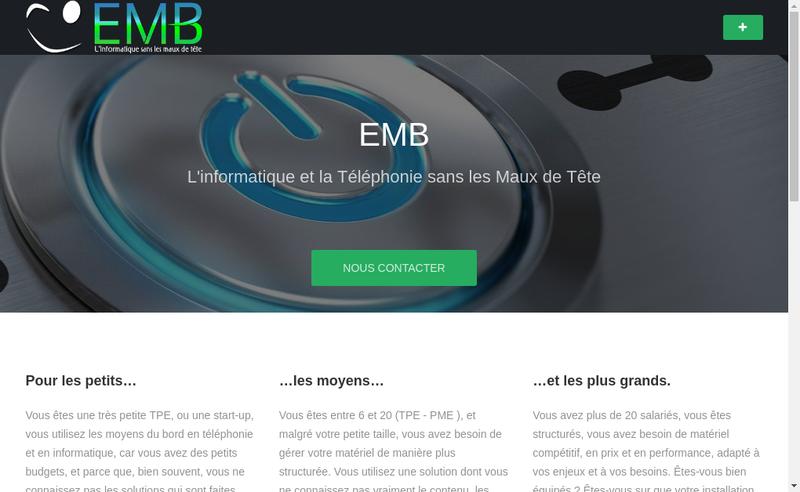 Capture d'écran du site de EMB