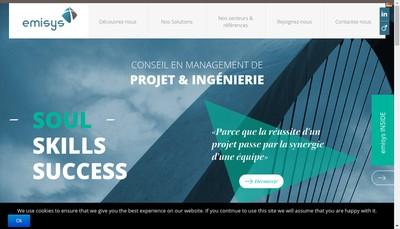 Site internet de Holding Emisys