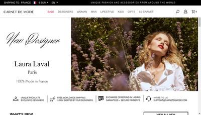 Site internet de Carnet de Mode