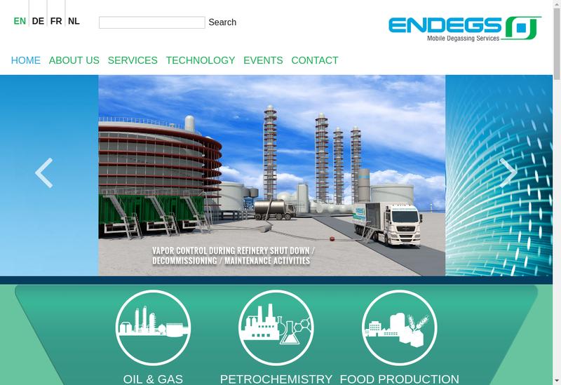 Capture d'écran du site de Endegs France