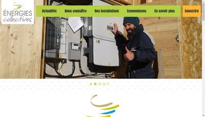 Site internet de Energies Collectives