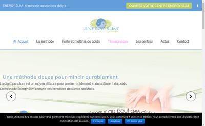 Site internet de Energy'Slim Concept