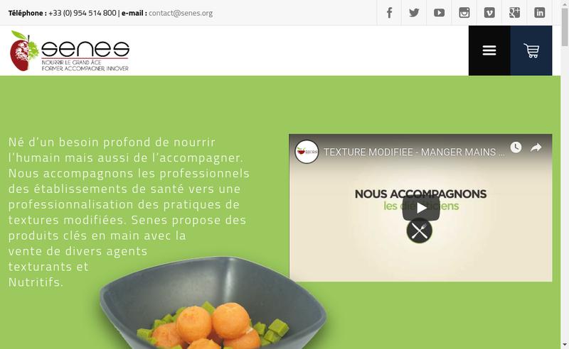 Capture d'écran du site de Senes Solutions