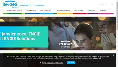 Site internet de Axima Contracting Actis Services
