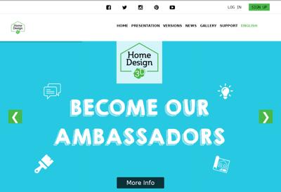 Capture d'écran du site de Home Design