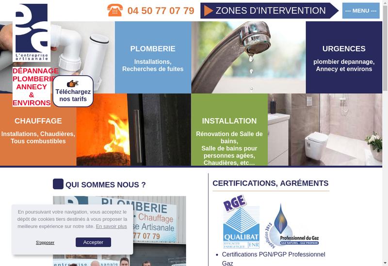 Capture d'écran du site de L'Entreprise Artisanale SAS