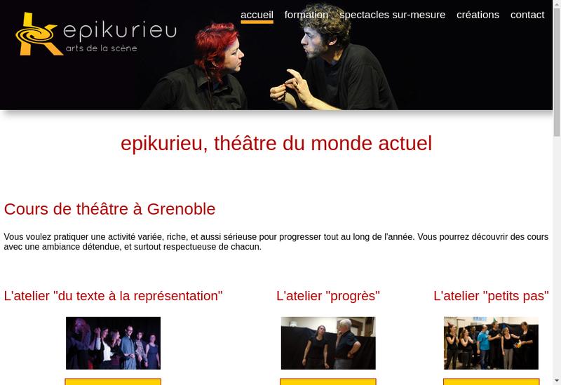 Capture d'écran du site de Epikurieu