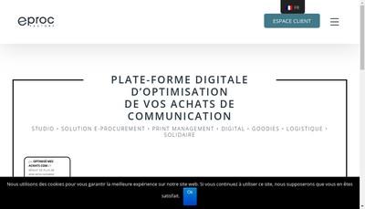Site internet de Eproc Factory