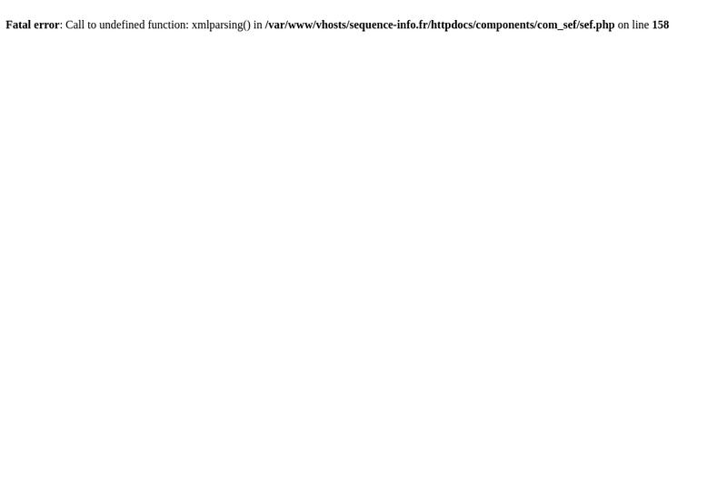 Capture d'écran du site de Sequence Informatique