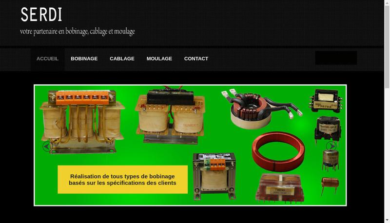 Capture d'écran du site de Serdi