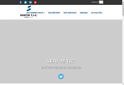 Site internet de Serfim TIC