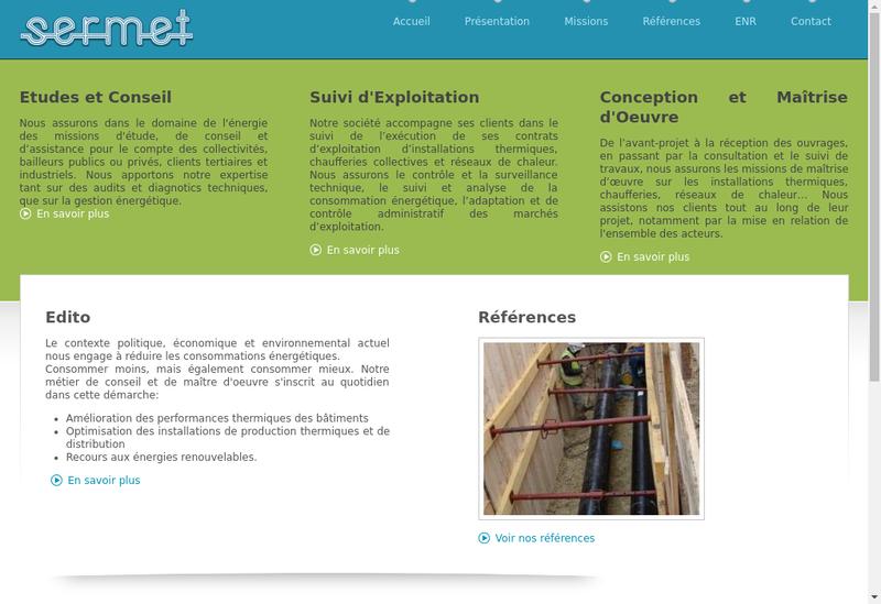 Capture d'écran du site de Societe Etudes Real Mainten Equipem Tech