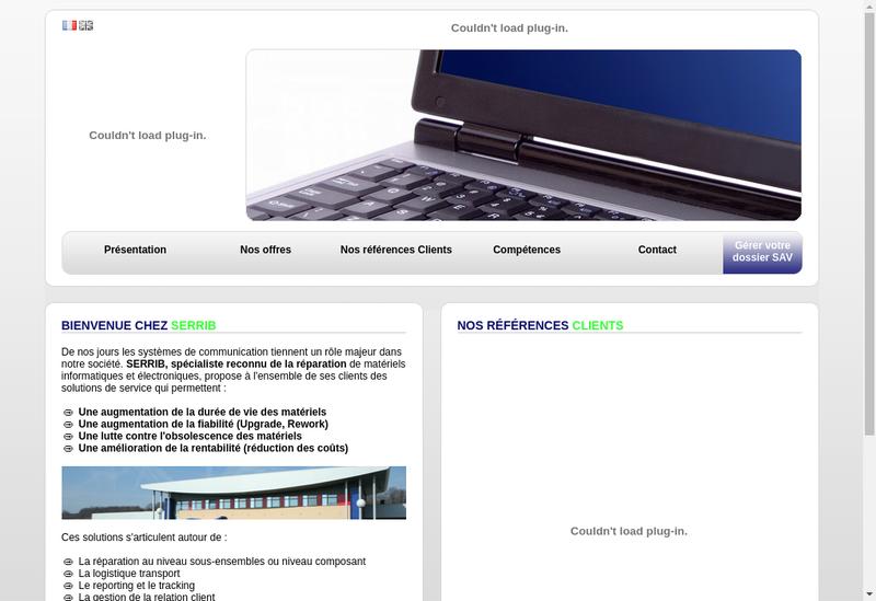 Capture d'écran du site de Serrib