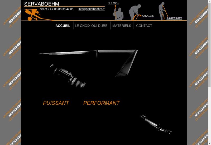 Capture d'écran du site de Servaboehm