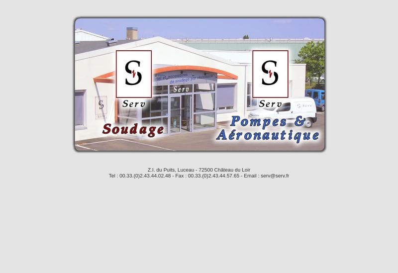 Capture d'écran du site de Serv SA