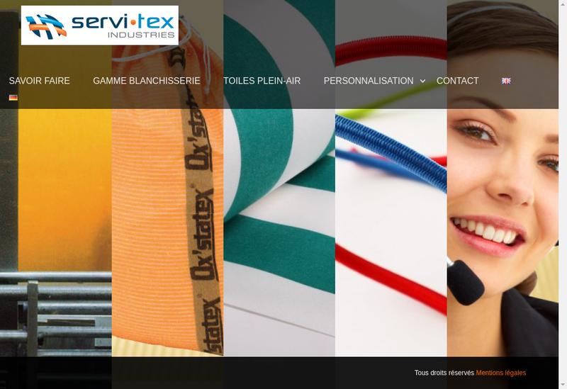 Capture d'écran du site de Servi Tex Industries