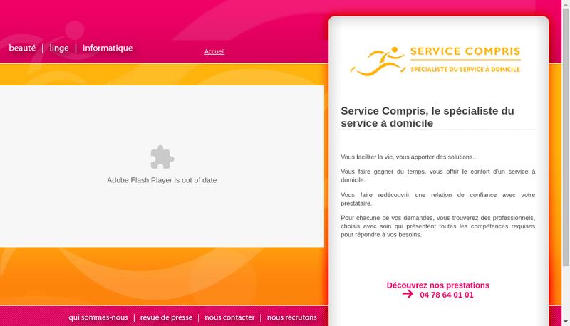 Capture d'écran du site de Service Compris de AZ