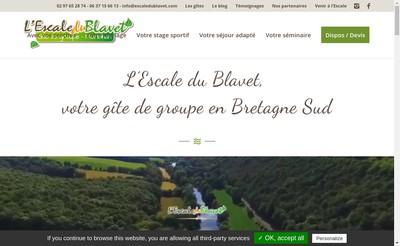 Site internet de SARL l'Escale du Blavet