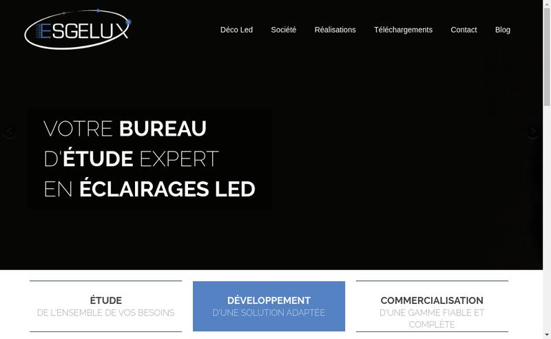 Capture d'écran du site de Esgelux