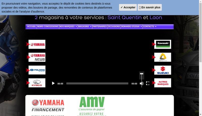 Capture d'écran du site de Espace Motos
