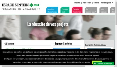 Site internet de Espace Sentein