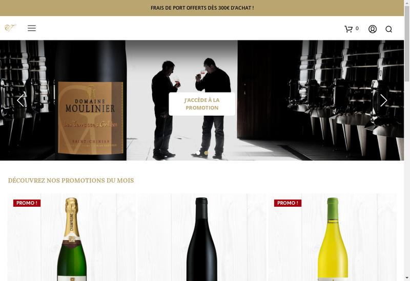 Capture d'écran du site de Espace Vin de St Chinian