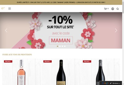 Site internet de Espace Vin de St Chinian