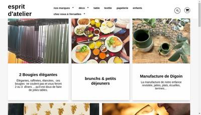 Site internet de Esprit d'Atelier