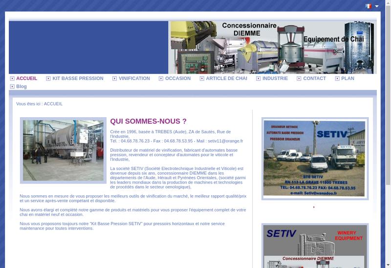 Site internet de SARL Setiv