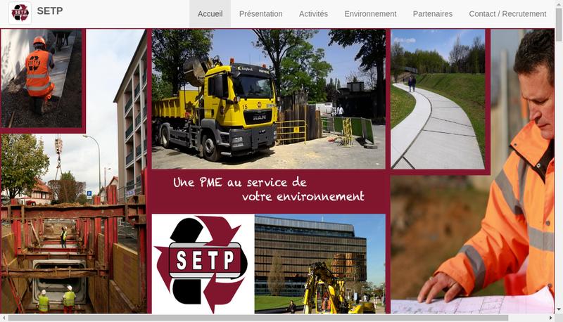 Capture d'écran du site de EDS