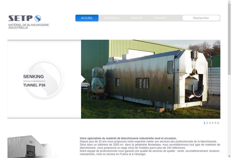 Capture d'écran du site de SETP