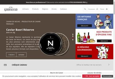 Site internet de Etre Gourmand