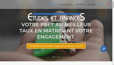 Site internet de Etudes et Finances