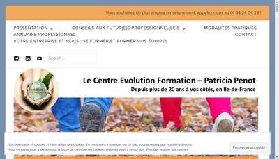 Site internet de Evolution Formation Conseil