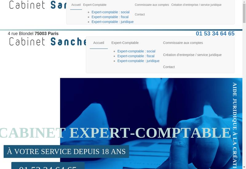 Capture d'écran du site de Richard Sanchez