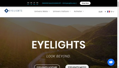 Site internet de Eyelights