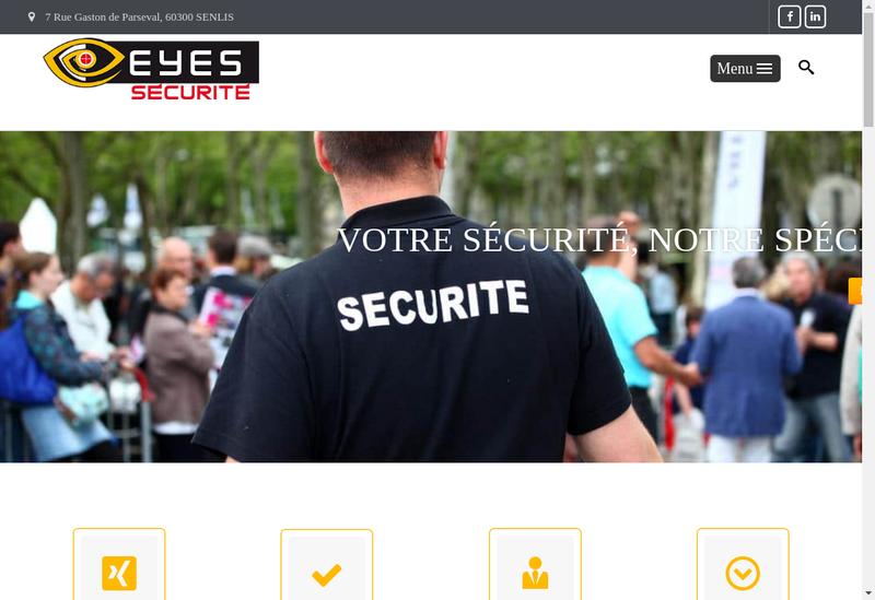 Capture d'écran du site de Eyes Securite