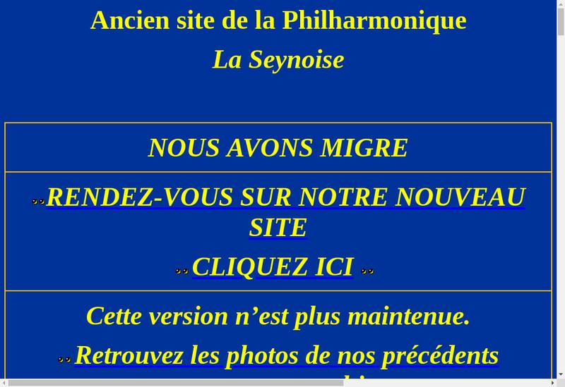 Capture d'écran du site de La Seynoise