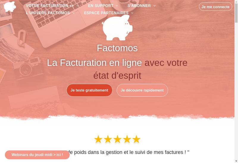 Capture d'écran du site de Factomos