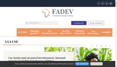 Site internet de Fadev