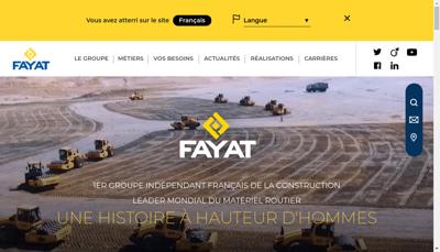 Capture d'écran du site de Fayat Entreprise Tp