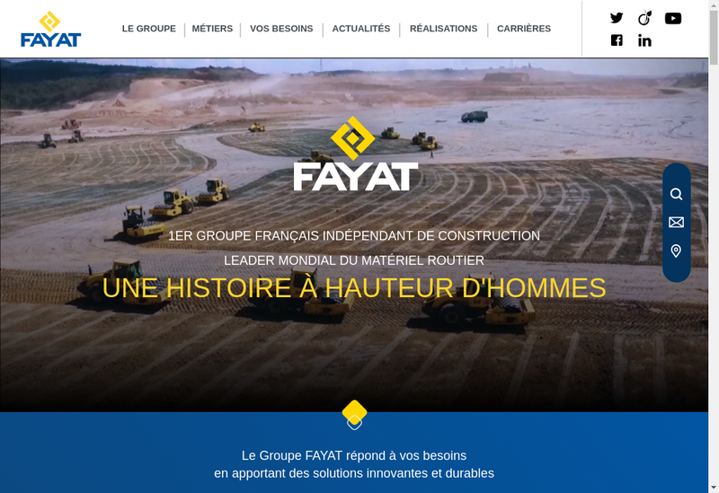 Capture d'écran du site de Fayat Immobilier