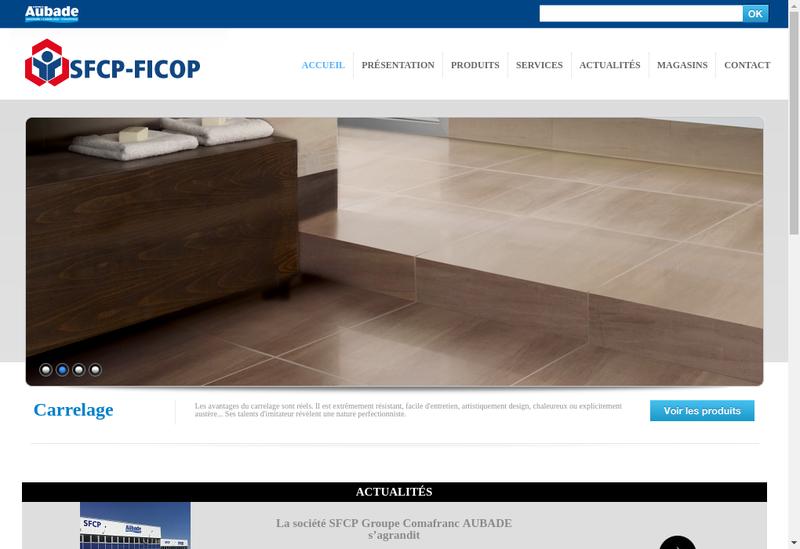 Capture d'écran du site de SFCP