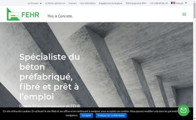 Site internet de Fehr Techn-Beton Fehr-Flt-Flt Beton Vert